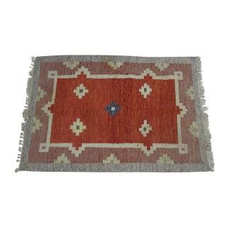 Vintage Swedish Flat Weave Rug