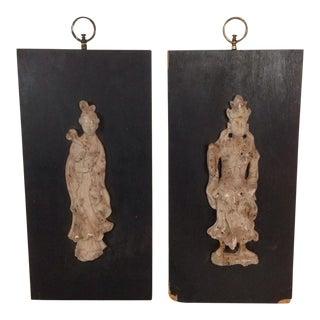 Asian Characters Wall Art Hangings - A Pair