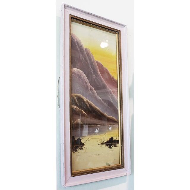 Asian Pastel Lake Scene - Image 3 of 4