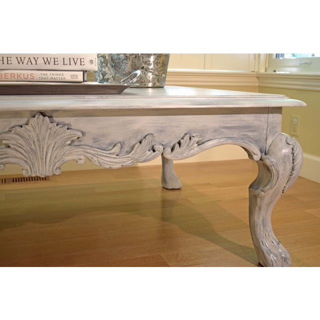 Hand Painted Paris Gray Coffee Table - Image 3 of 10