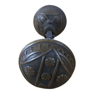 Eastlake Brass Floral Door Knobs