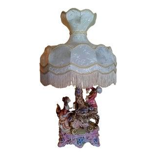 Capodimonte Lavish Victorian Musicians Porcelain Table Lamp