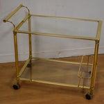 Image of Hollywood Regency Brass Bar Cart