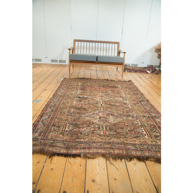 "Antique Kamseh Rug - 4'6"" x 6'8"" - Image 9 of 10"