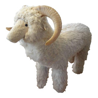Vintage Sheep Sculpture or Bench Inspired by Lalanne