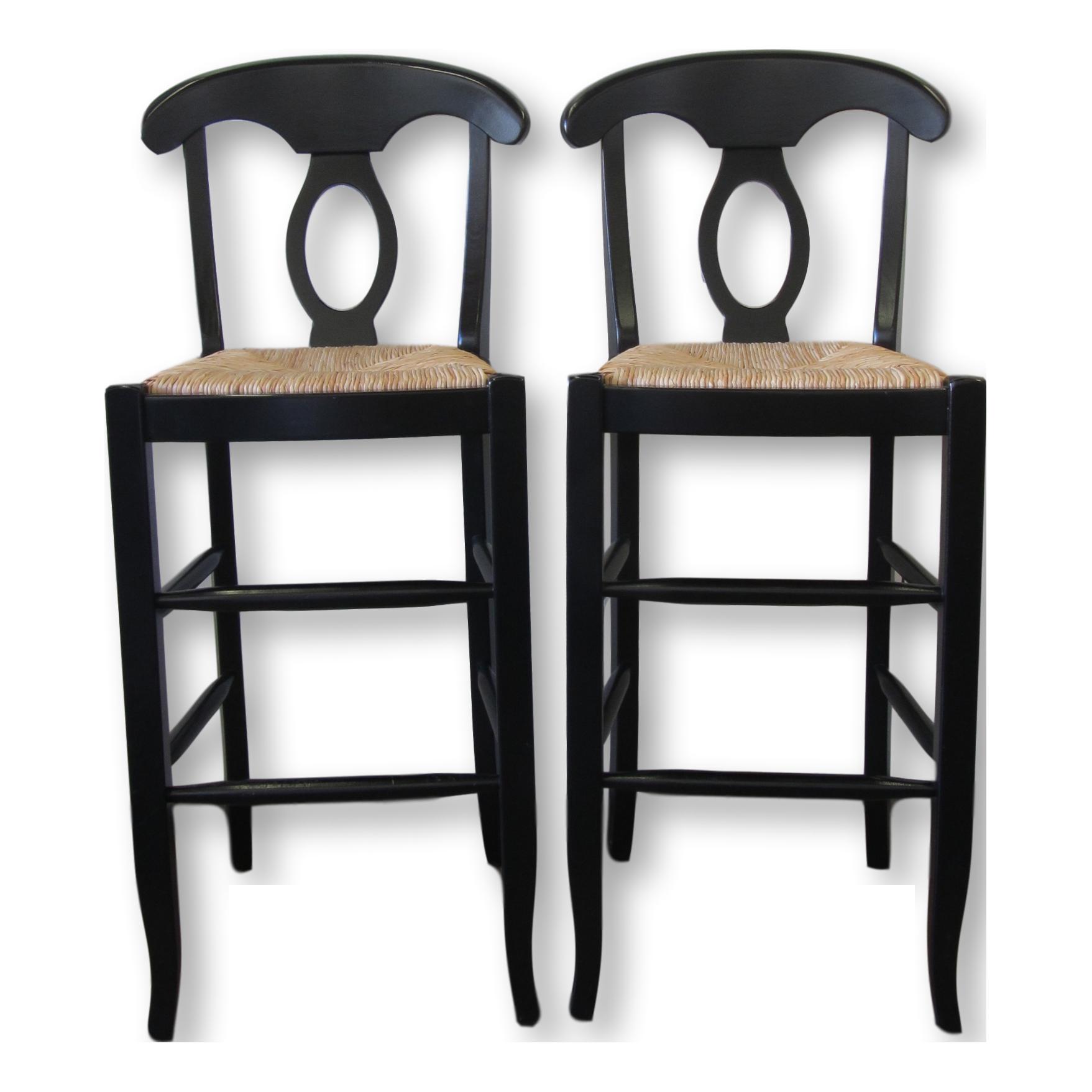 Pottery Barn Black Bar Stools A Pair Chairish