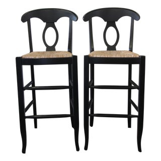 Pottery Barn Black Bar Stools - A Pair
