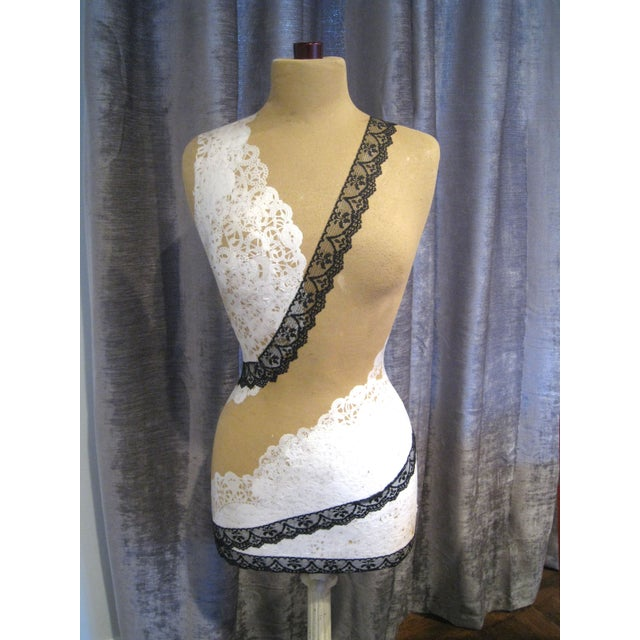 Lacy Mannequin with Antique Cast Iron Base - Image 3 of 8
