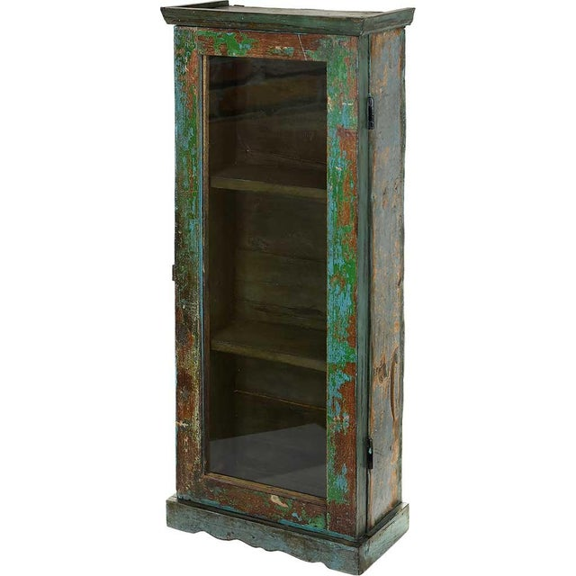 Image of Shamrock Green Showcase Wall Cabinet