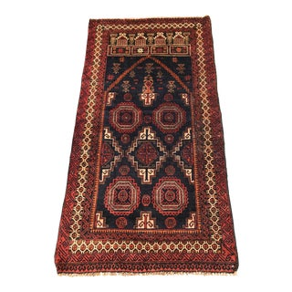 "Vintage Turkish Small Area Rug - 2'7"" x 4'"