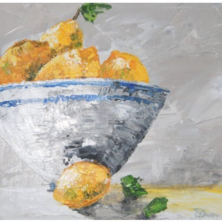 Expressionist Lemon Still Life by C. Plowden