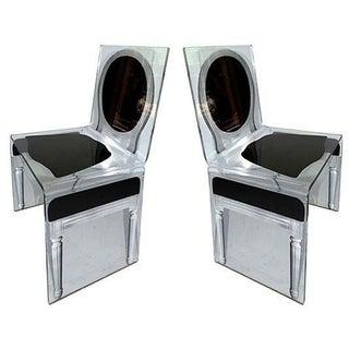 J. C. de Castelbajac Style Lucite Chairs - A Pair