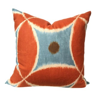 Designer Ikat Linen Pillow Cover
