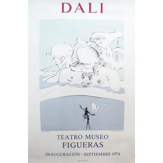 Original 1974 Salvador Dali Exhibition Poster