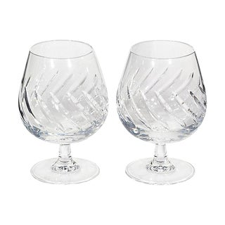 1960s French Brandy Snifters, Pair