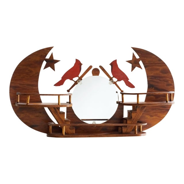 st louis cardinals folk art wall hanging chairish. Black Bedroom Furniture Sets. Home Design Ideas