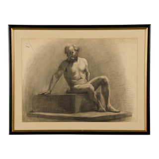 French Academy of Art Life Drawing c.1875