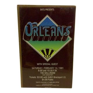 1981 Ents Presents Orleans Suny Brockport Concert Poster