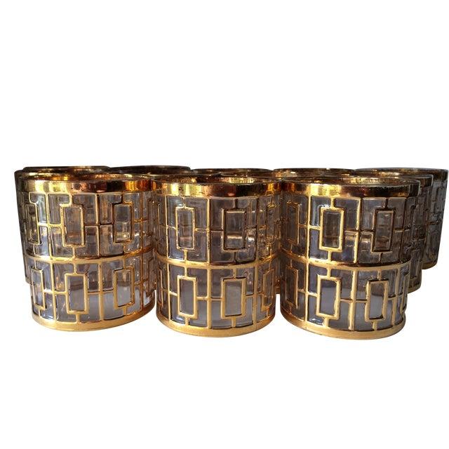 Image of 24 Kt Gold Shoji Rocks Glasses - Set of 12