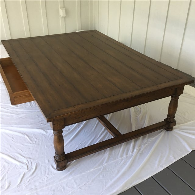 Ethan Allen Henry Coffee Table With Drawers: Guy Chaddock And Co. One Drawer Coffee Table