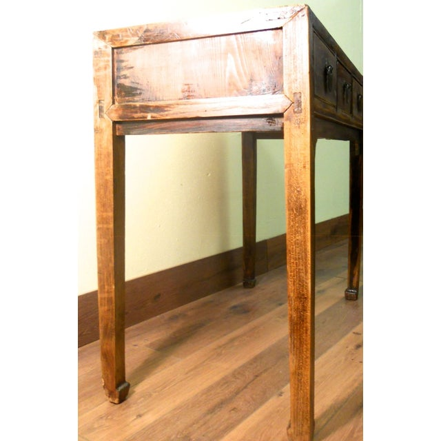 Early 1800s Antique Chinese Ming Desk - Image 8 of 9