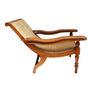Teak & Cane Plantation Chair