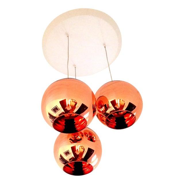 Tom Dixon Copper 25 3 Light Multipoint Pendant - Image 1 of 3