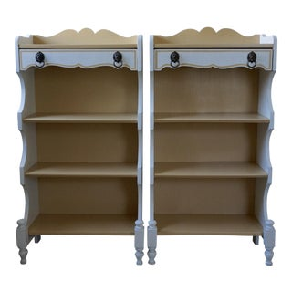 Vintage Rustic Neoclassical Etageres - a Pair