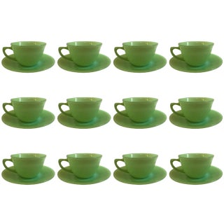 Jadeite Fire King Anchor Hocking Cup & Saucer Set