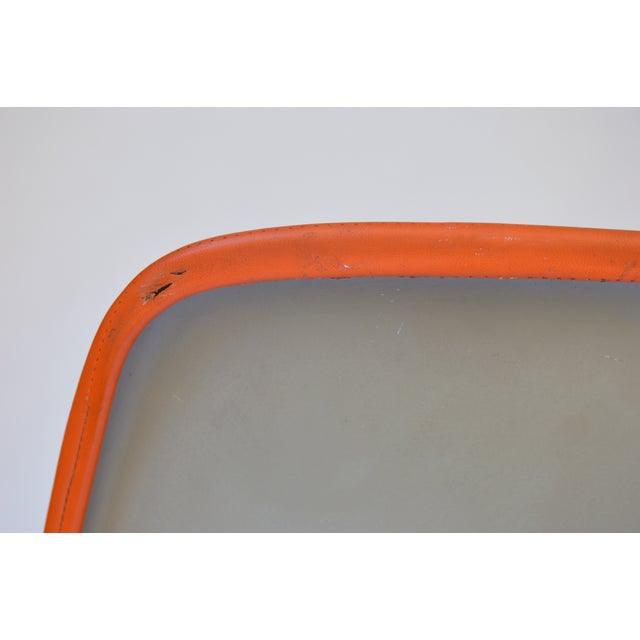 Herman Miller Eames Orange Vinyl Side Shell Chair - Image 7 of 9