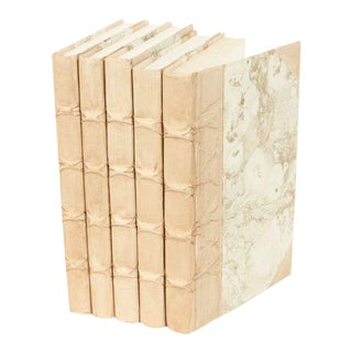 Parchment Collection Biscotti Beige Books - Set of 5