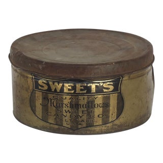 Antique Sweets Marshmallow Tin