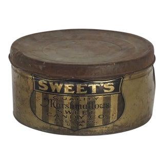 Antique Sweets Marshmallow Tin