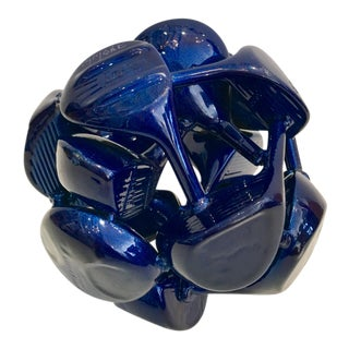 Blue Golf Club Sculpture
