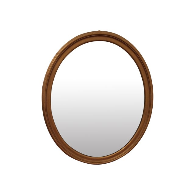 Large Oval Giltwood Mirror - Image 1 of 4