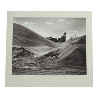 "Mid-Century Industrial""Sand and Gravel"" Photograph"