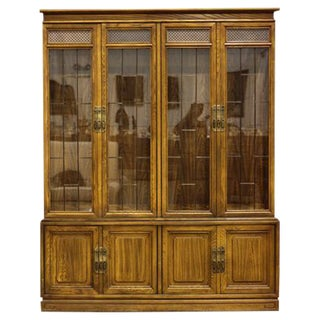 Breakfront Cabinet with Paned Glass