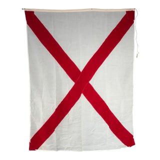 "Vintage ""V"" Nautical Flag"