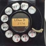 Image of Western Electric 1949 Black Model 302 Telephone