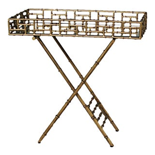 Hollywood Regency-Style Faux Bamboo Bar