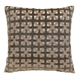 "Piper Collection Neutral Toned Velvet ""Casey"" Pillow"