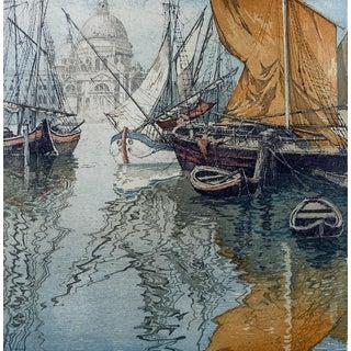 Venice Sailboats Etching by Eidenberger