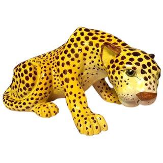 Vintage Mid-Century Italian Ceramic Cheetah