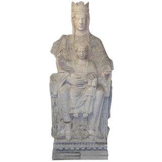 19th C. French Plaster of Virgin & Child