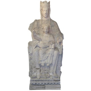 19th C. French Plaster of Virgin & Child