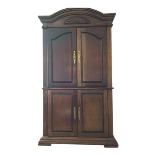 Cherry Wood Entertainment Cabinet Armoire