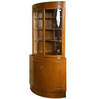 Grosfeld House Bow Front Corner Cabinet