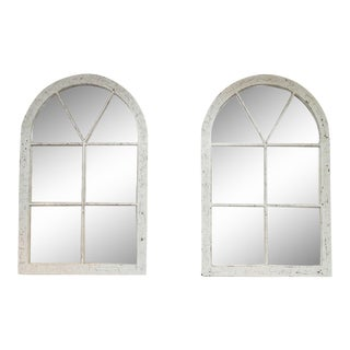 Pair of White Painted Industrial Windows, English, circa 1880