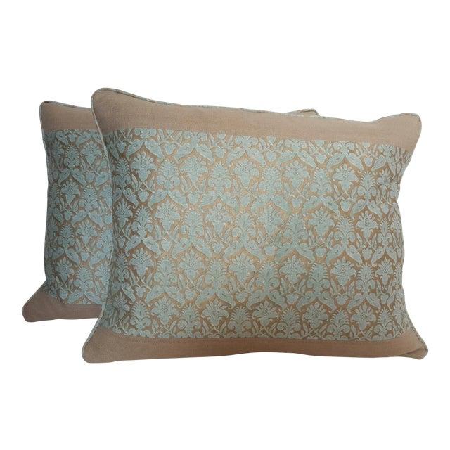 Image of Fortuny Floral Lumbar Pillows - Pair