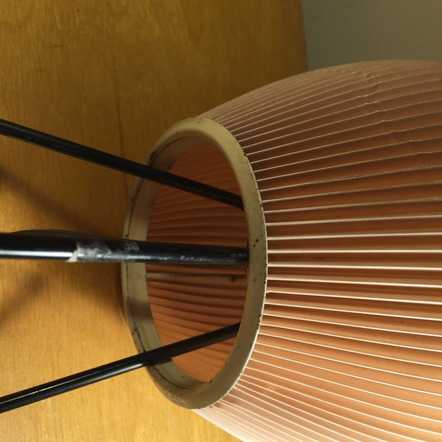 Image of French Pink Tripod Table Lamp